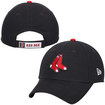 Men's Boston Red Sox New Era Navy League Logo 9FORTY Adjustable Hat