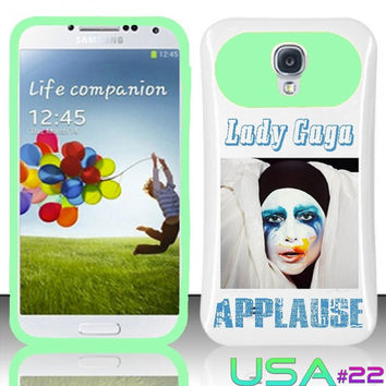 USA Design #22 - Samsung Galaxy S4 Glow in Dark Case # Lady Gaga Applause Album Cover for Galaxy S4 i9500 Case