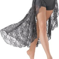 Open Lace Maxi Skirt Attached Shorts | Balera™