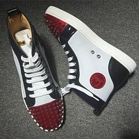 Cl Christian Louboutin Lou Spikes Style #2209 Sneakers Fashion Shoes