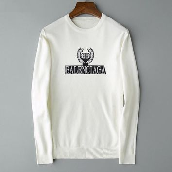 Balenciaga sells casual sweaters for men and women and fashion embroidered logo sweaters