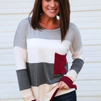 Pocket Change Tunic {Striped}