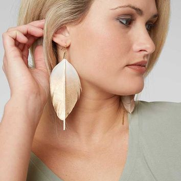 BKE DIPPED FEATHER EARRING