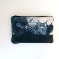 Blue + White Dyed Clutch | BRIKA - A Well-Crafted Life