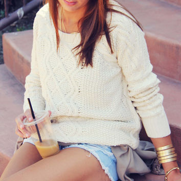 The Cozy Cable Knit Sweater