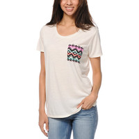 Empyre Girls Kessler Vanilla Ice Tribal Print Pocket Tee Shirt at Zumiez : PDP