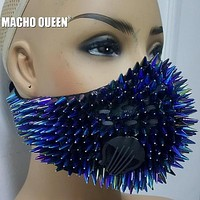 Holographic Spikey Breathable Half Face Mask