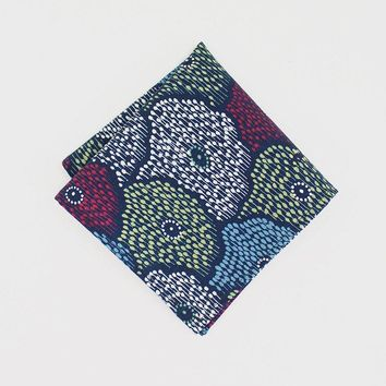 Pocket Square, Abstract Floral Pattern