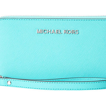 MICHAEL Michael Kors Jet Set Travel Large Coin Mlt Funt Phone Case Aquamarine - Zappos.com Free Shipping BOTH Ways
