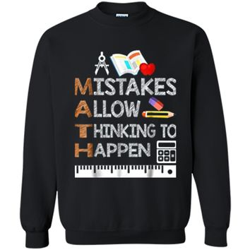 Funny Math Teacher Gifts Math Lover  Gifts Printed Crewneck Pullover Sweatshirt