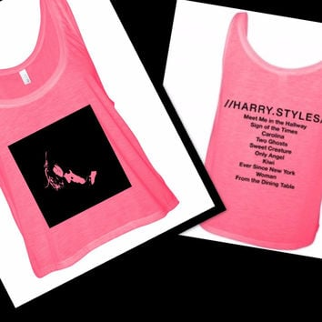 Harry Styles Solo Album Tracklist & Stencil Boxy, Cropped Tank Top