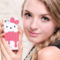 Hello Kitty Mobile phone case iphone4 case by superiorqualitychina