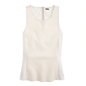 J.Crew Womens Textured-Dot Peplum Top