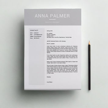 Resume Template, CV Template, Cover Letter for MS Word, Instant Digital Download, Social Media, Professional Resume, CV Writing, Anna Palmer