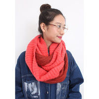 Color Block Knitted Snood
