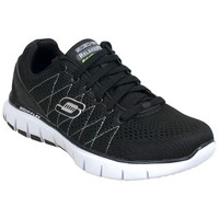 Skechers Relaxed Fit Skech-Flex Black and White Sneaker