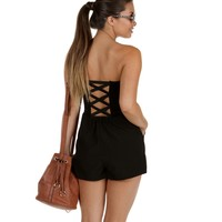 Sale-black On Black Sweetie Romper