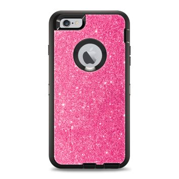 The Pink Glitter Ultra Metallic Apple iPhone 6 Plus Otterbox Defender Case Skin