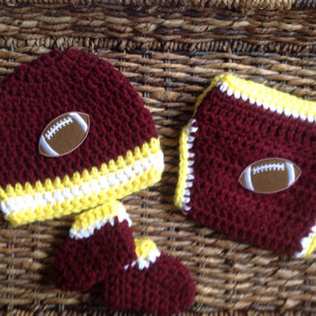 Washington Redskins Football Baby Crochet Gift Set
