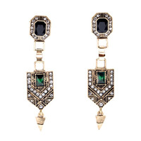Old World - New World Emerald Earrings        -           New Arrival