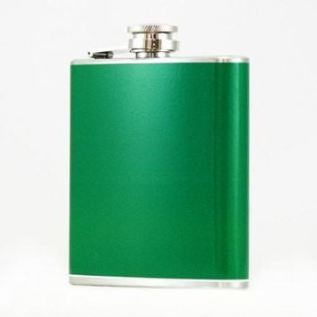 Stainless Steel Colored Flask, Assorted Colors & CUSTOM COLOR!
