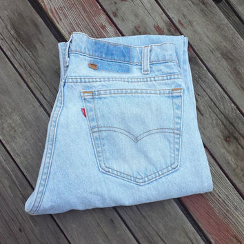Vintage Original LEVI'S 505 Jeans - Made in USA - SZ 34 x 32 Actual 32 x 30.5