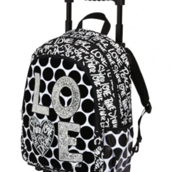 Love Polka Dot Roller Backpack | Girls Backpacks & School Supplies Accessories | Shop Justice
