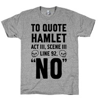 HUMAN To Quote Hamlet Act III, Scene iii Athletic Grey Medium T-Shirt