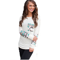 East Knitting CD102 New O-Neck Crochet T Shirt Women T-shirt Print Tops Long Sleeve Fashion Blusas Femininas 2015 Solid Shirts