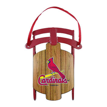 St. Louis Cardinals Metal Sled Ornament