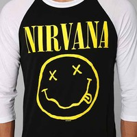 Nirvana Raglan Tee- Black XL