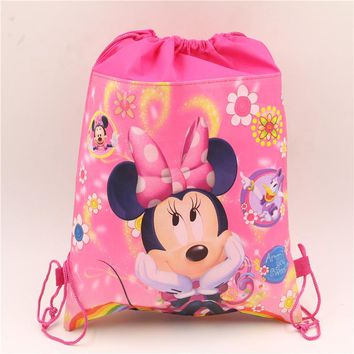 1pcs\lot Non-woven Fabric Drawstring Gifts Bags Birthday Party Decoration  Baby Shower Kids Favors supplies