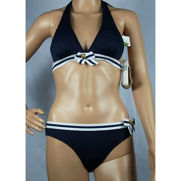 Juicy Couture Fashion Halter Brassiere Underpant Set Two-Piece Bikini