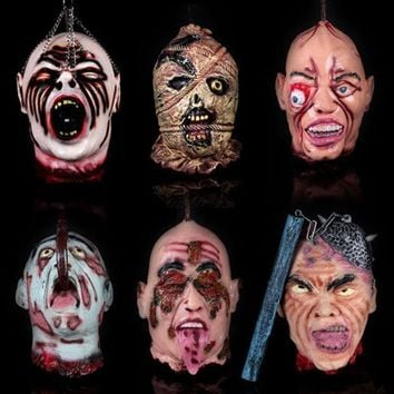 Halloween Haunted House Decoration Prop Super Horror Scary Simulation Human Ghost And Zombie Head