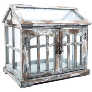 Gray, Brown & White Wood Terrarium with 2-Doors | Shop Hobby Lobby
