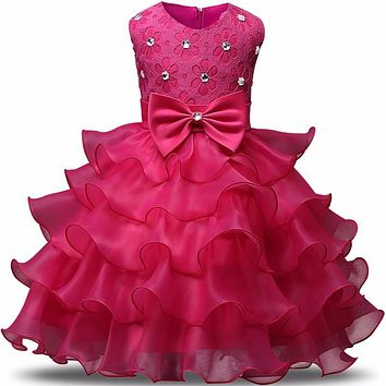 Little Girl Dress Princess 2017 New Infant Lace Kids Events Party Wear Dresses For Girls Children's Costume For Girls Clothes