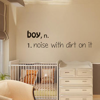 Wall Decals Boy Definition Noise With Dirt On It Home Vinyl Decal Sticker Kids Nursery Baby Room Decor kk633