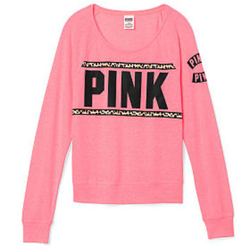 Bling Long Sleeve Raglan Tee - PINK - from VS PINK | stuff💗