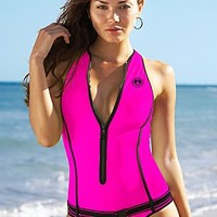 Scuba Zipper One-Piece