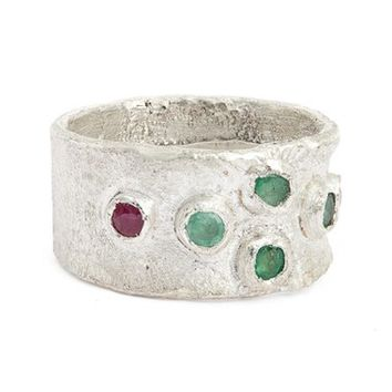 Franny E Jewelry Emerald & Ruby Ring   Nordstrom