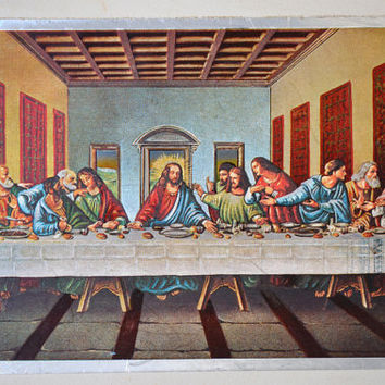 The Last Supper Card and Post Card Vintage