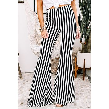 The First In Line Striped Flare Pants