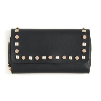 Gold Studded Envelope Wallet