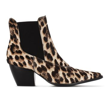 Matisse GOLDEN GATE Snow Leopard Ankle Boots