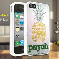 psych pineapple quotes iphone 4/4s/5/5c/5s case, psych pineapple quotes samsung galaxy s3/s4/s5, psych pineapple quotes samsung galaxy s3 mini/s4 mini, psych pineapple quotes samsung galaxy note 2/3