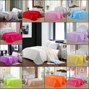 Throw Blankets Breathable Thermal Bed/Sofa Blanket Couch Quit Twin/Full/Queen/King
