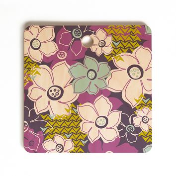 Heather Dutton Petals and Pods Orchid Cutting Board Square