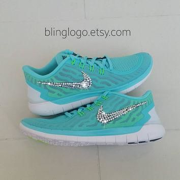Bling Nike Free 5.0 With Swarovski Crysral Rhinestones - Bling Nikes, Bling Shoes, Bli