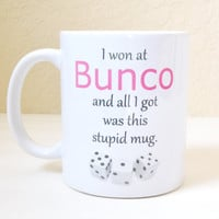 Bunco Giveaway Gift - Bunco Game Night Host - Bunco Coffee Mug - Dice Game Giveaway