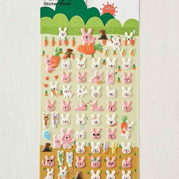 Bunny Puffy Stickers Set